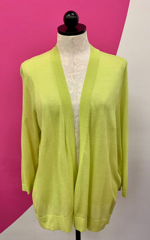 CHICO'S LIME GREEN COVER UP - L/XL