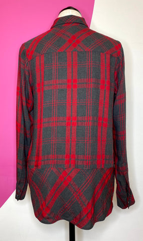CABI CUNNINGHAM PLAID SHIRT - S