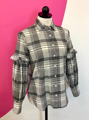 ROBERT RODRIGUEZ PAULINE PLAID BLOUSE - 2
