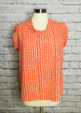 CABI MADELEINE ORANGE TOP - M