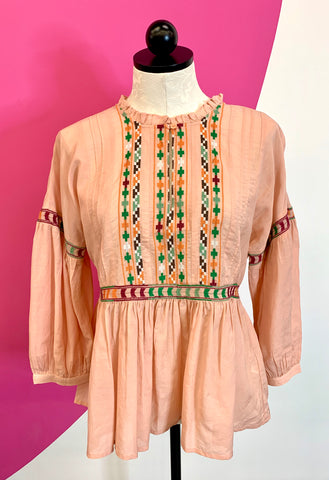 LUCKY BRAND NEW PEASANT TOP - S
