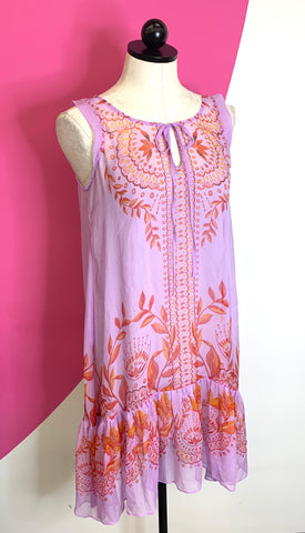 ANTHROPOLOGIE ROMANTIC WISTERIA DRESS - 4P