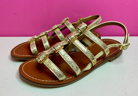 TORY BURCH GOLD GLADIATOR SANDAL - 6