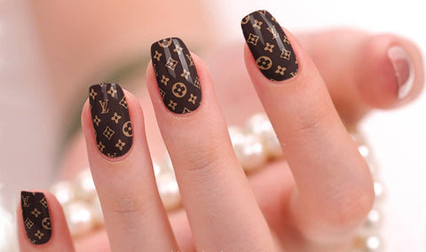 NAIL POLISH STICKERS - LV & GUCCI DESIGNS