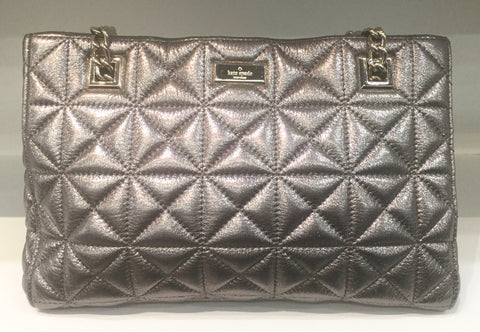 KATE SPADE SILVER GOLDCOAST QUILTED BAG