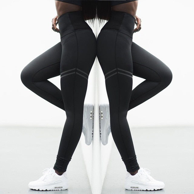 elastic fitness tights women