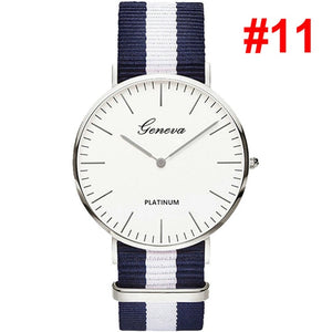 Platinum Watch With Nylon Strap