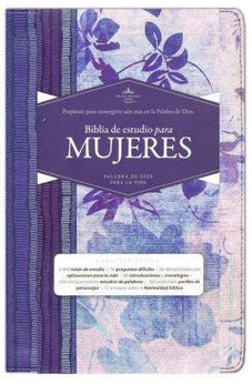 Rvr 1960 Women Study Bible Blue W/Flowers Co 9781433613975