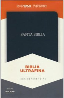 Image of Biblia RVR1960 Ultrafina Negro con referencias 9781433620294