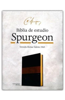 Image of Rvr 1960 Biblia De Estudio Spurgeon Negro Marron Simil Piel 9781535915182