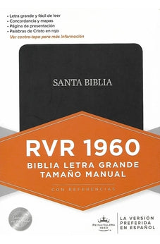 Image of Biblia RVR 1960 Tamano Manual Negro