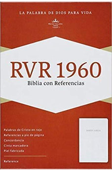 Rvr 1960 Ref Bible White Bonded Leather 9781558195370