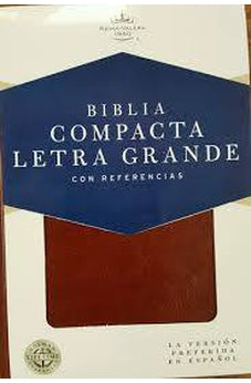 Image of RVR 1960 Biblia Compacta Letra Grande Con Referencias Marron Simil Pie
