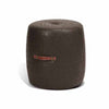 Alto Drum Stool in java faux leather with leather handles (3 in stock)