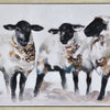 "Art- ""Moutons"" Hand Painted Canvas Whitewash Frame (1 in stock)"