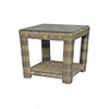 Princeville Square End Table with Glass (qty of 1 left)