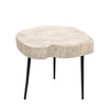 Organic whitewashed Trunk Side Table