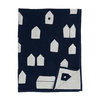 Organic Cotton Throw Sun Village Navy (qty of 1 in stock)