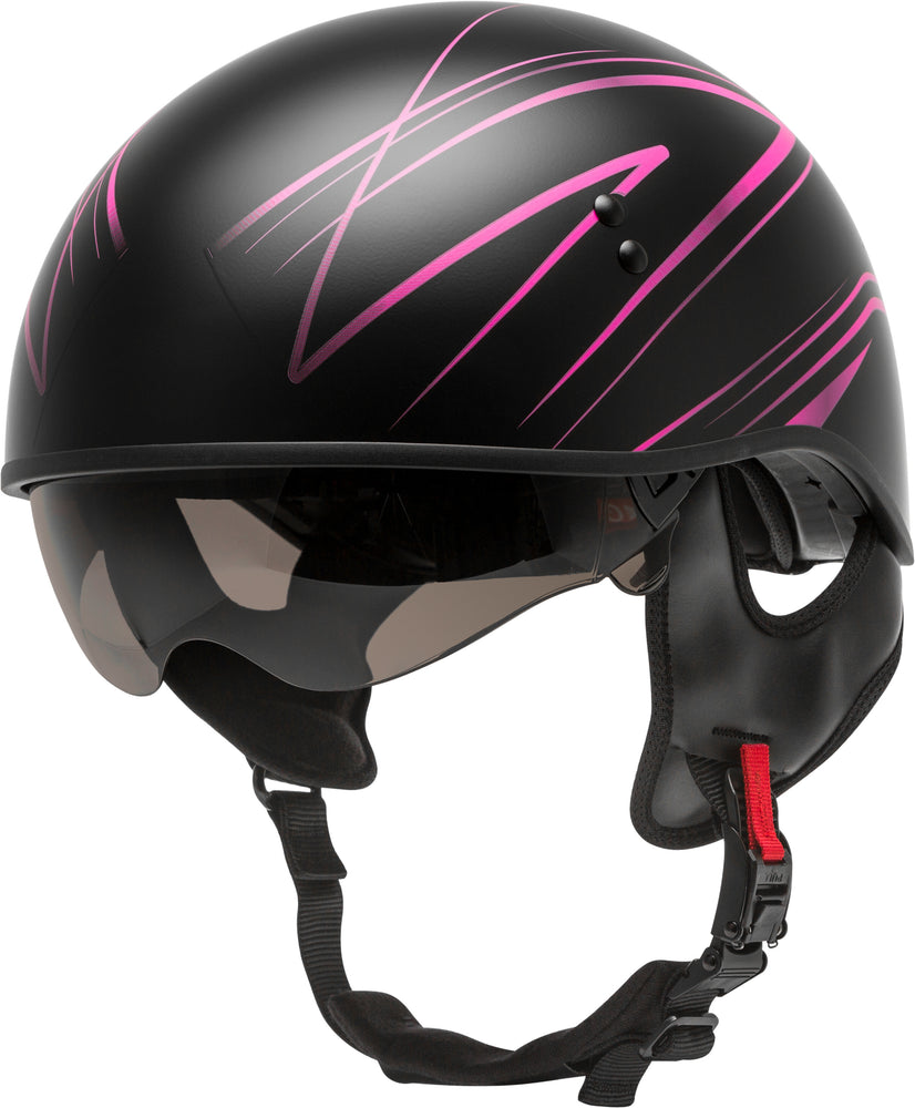 Load image into Gallery viewer, HH-65 HALF HELMET TORQUE NAKED MATTE BLACK/PINK MD