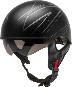 Load image into Gallery viewer, HH-65 HALF HELMET TORQUE NAKED MATTE BLACK/SILVER 2X