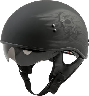 Load image into Gallery viewer, HH-65 HALF HELMET RITUAL NAKED MATTE BLACK XS