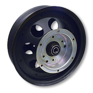 Mini Bike Wheel |10 in. | with Flanged Drum and Bearings