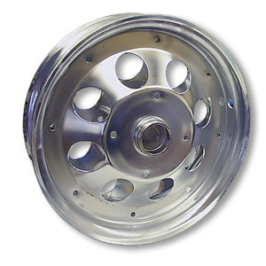 Load image into Gallery viewer, Mini Bike Wheel |10 in. | Chrome | Less Bearings