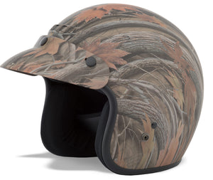 GM-2 OPEN-FACE LEAF CAMOUFLAGE HELMET XS