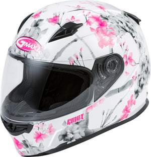 Load image into Gallery viewer, FF-49 FULL-FACE BLOSSOM HELMET WHITE/PINK/GREY XS