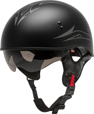 Load image into Gallery viewer, HH-65 HALF HELMET PIN NAKED MATTE BLACK/DARK SILVER MD