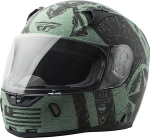 Load image into Gallery viewer, REVOLT LIBERATOR HELMET MATTE BLACK/GREEN XS
