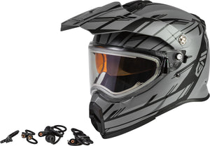 AT-21S EPIC SNOW HELMET W/ELEC SHIELD MATTE GREY/BLACK LG