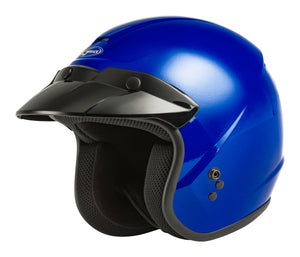 YOUTH OF-2Y OPEN-FACE HELMET BLUE YM