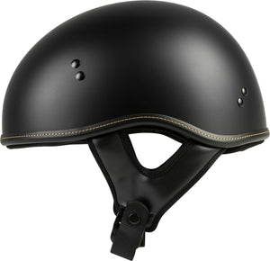 Load image into Gallery viewer, .357 SOLID HALF HELMET MATTE BLACK SM