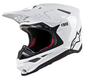 Load image into Gallery viewer, S.TECH S-M8 HELMET GLOSSY WHITE SM