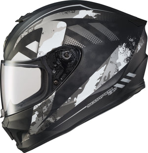 Load image into Gallery viewer, EXO-R420 FULL-FACE HELMET DISTILLER MATTE BLK/SIL 2X