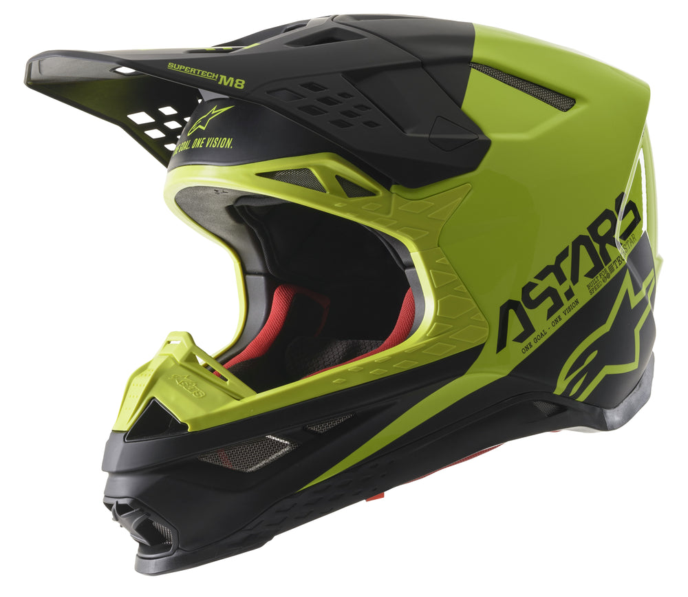 S.TECH S-M8 ECHO HELMET BLACK/YELLOW FLUO/M&G MD