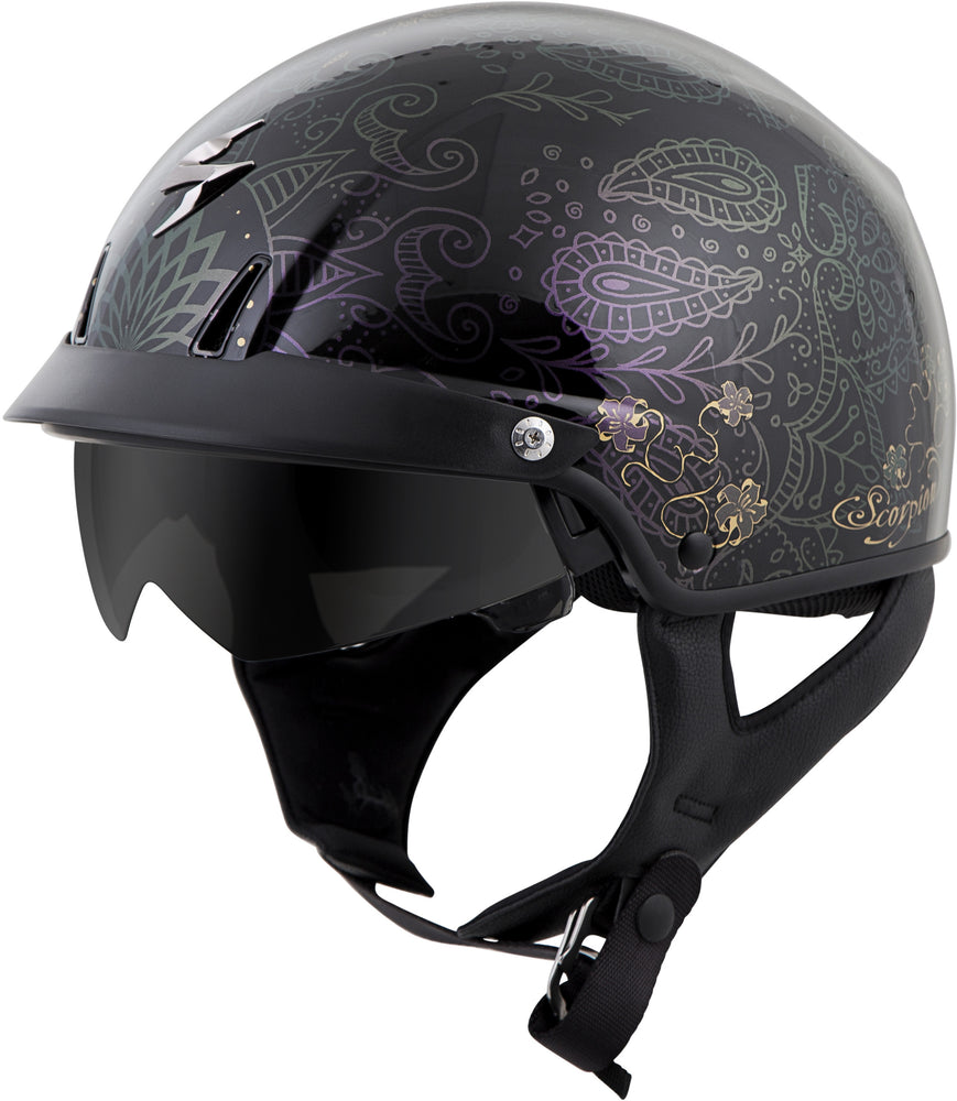 EXO-C110 OPEN-FACE HELMET AZALEA BLACK/GOLD SM