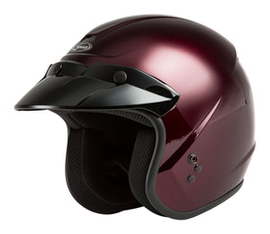 Load image into Gallery viewer, OF-2 OPEN-FACE HELMET WINE RED 2X