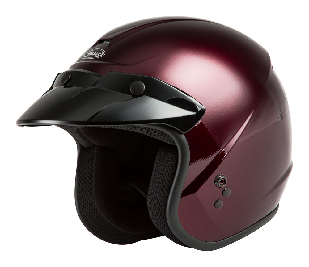 OF-2 OPEN-FACE HELMET WINE RED MD
