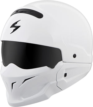 COVERT OPEN-FACE HELMET GLOSS WHITE LG