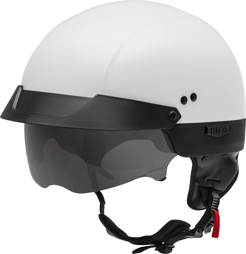 Load image into Gallery viewer, HH-75 HALF HELMET WHITE XS