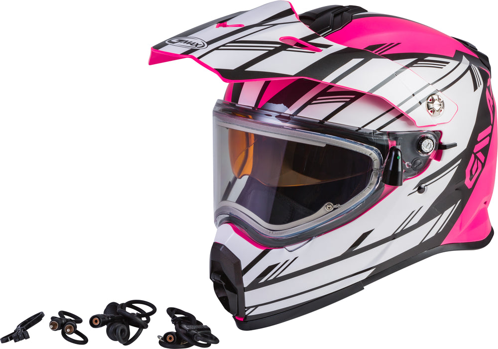 Load image into Gallery viewer, AT-21S EPIC SNOW HELMET W/ELEC SHIELD PINK/WHITE/BLACK LG