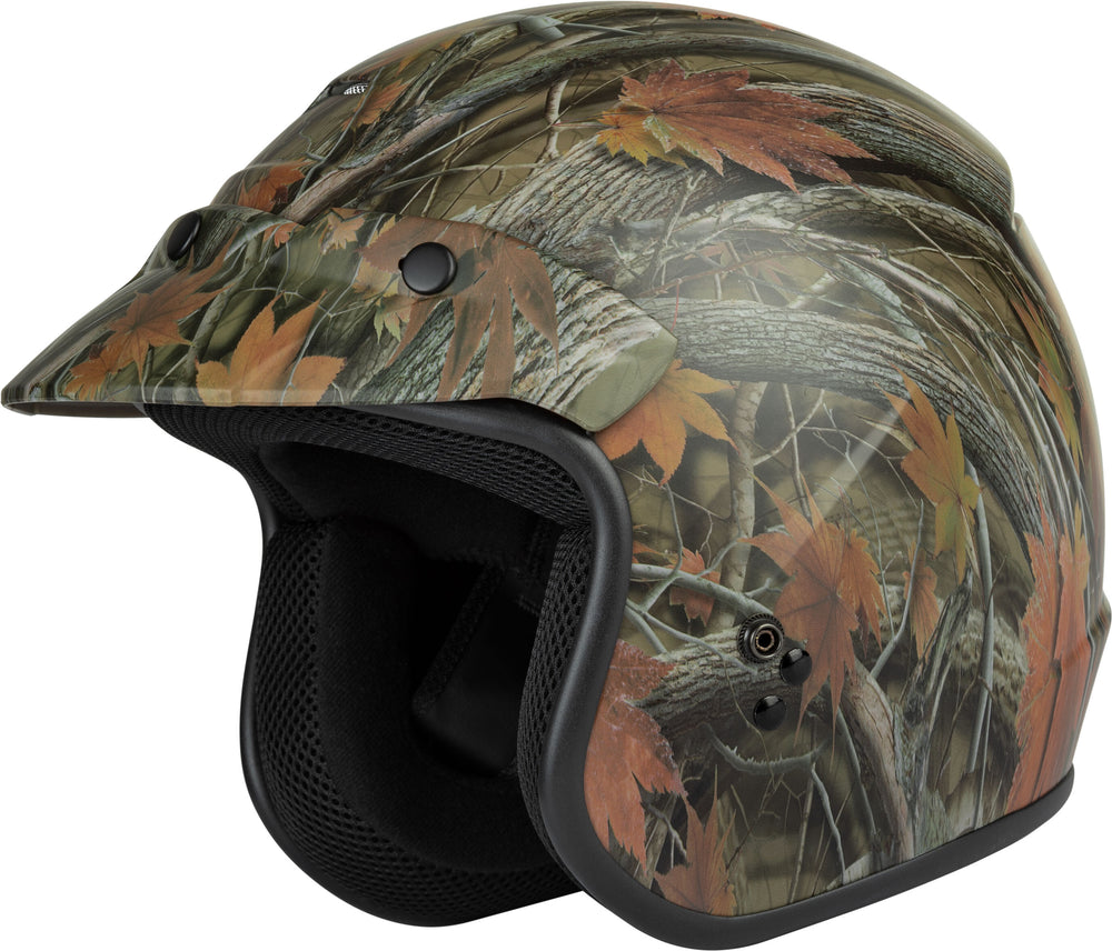 YOUTH OF-2Y OPEN-FACE HELMET LEAF CAMO YM