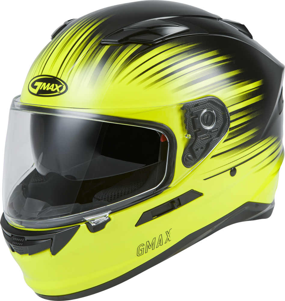FF-98 FULL-FACE RELIANCE HELMET HI-VIS/BLACK MD