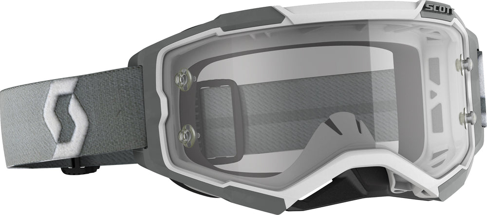 FURY GOGGLE WHITE/GREY CLEAR WORKS LENS