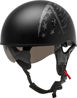 Load image into Gallery viewer, HH-65 HALF HELMET BRAVERY MATTE BLACK/GREY XS