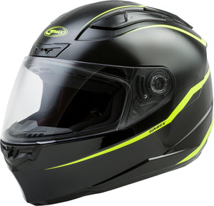 Load image into Gallery viewer, FF-88 FULL-FACE PRECEPT HELMET BLACK/HI-VIS YELLOW XL
