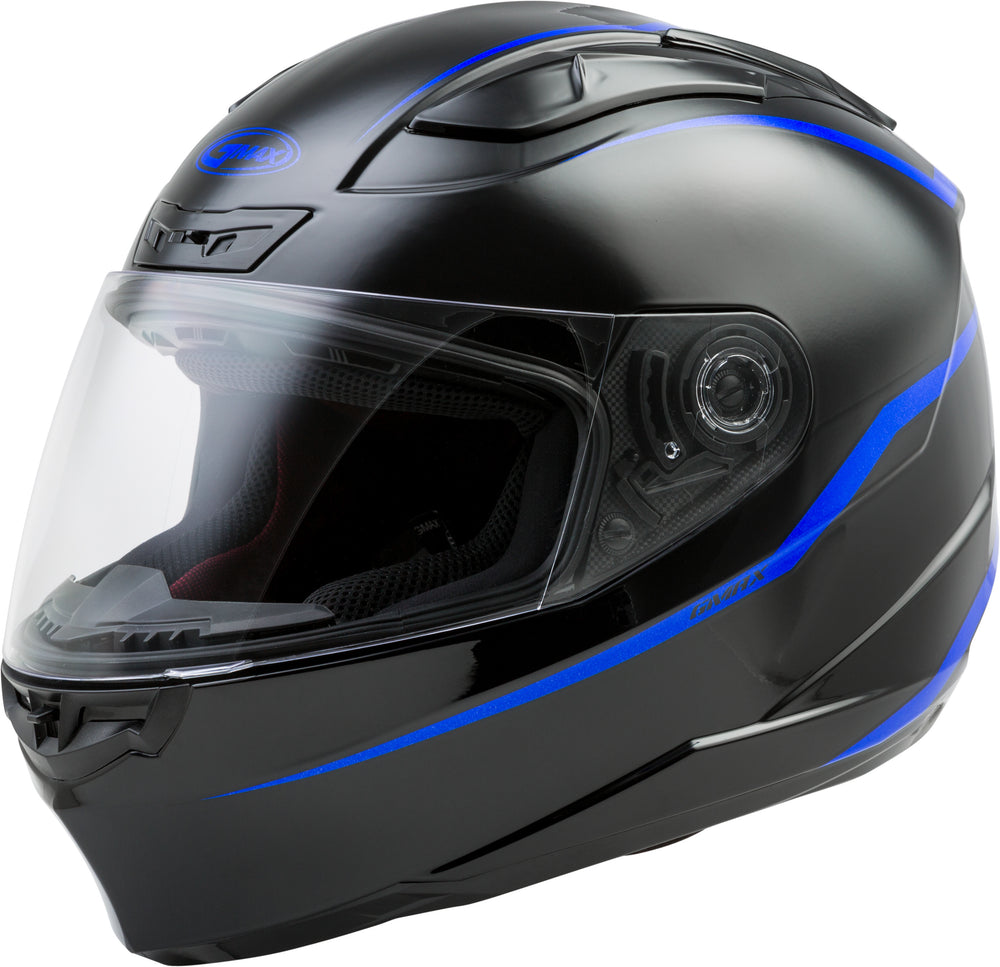Load image into Gallery viewer, FF-88 FULL-FACE PRECEPT HELMET BLACK/BLUE MD