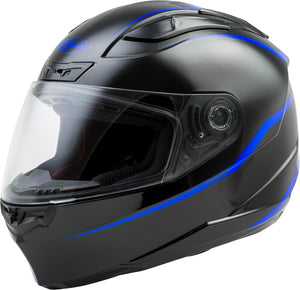 FF-88 FULL-FACE PRECEPT HELMET BLACK/BLUE MD